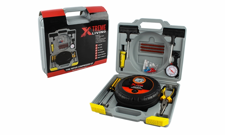 Xtreme Living Emergency Tyre Repair Compressor Kit for R499