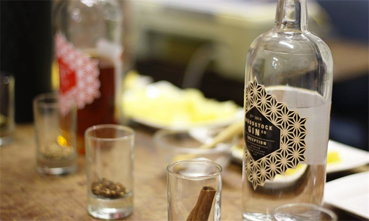 Snack and Gin Pairing for up to Four at the Woodstock Gin Company