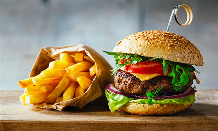 Gourmet Burger with Fries for up to Six at Aroma Cafe