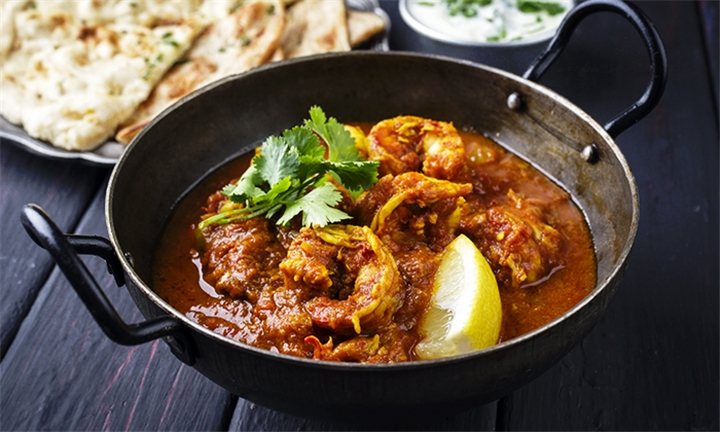 Choice of Prawn Masala or Prawn Curry for up to Four at Taj Mahal Restaurant