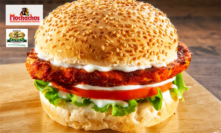 Any 2 Single Chicken Burgers at Mochachos, Umhlanga Pearls