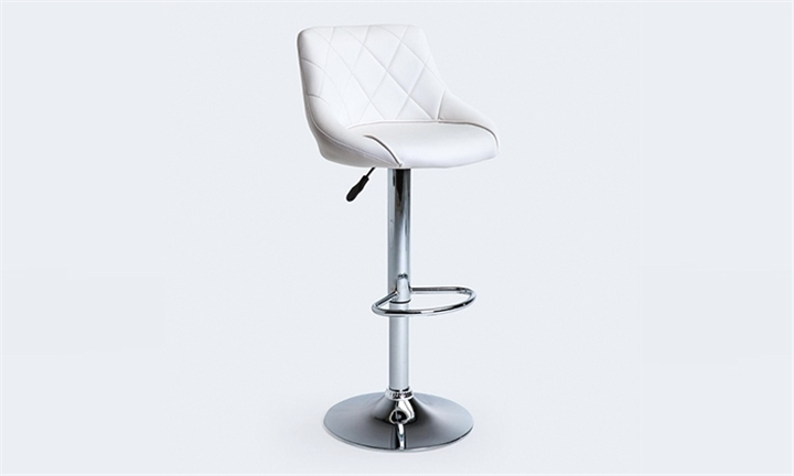 Amber Quilted PU Bar Chair (White) for R699 + Free Delivery