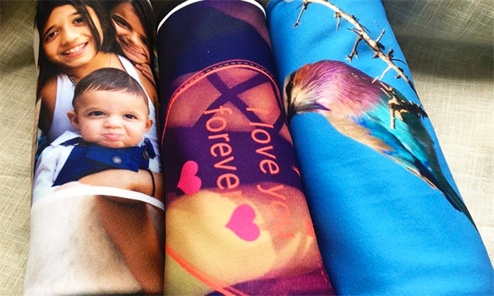 Printed Photo Fleece Blanket from Memory Prints