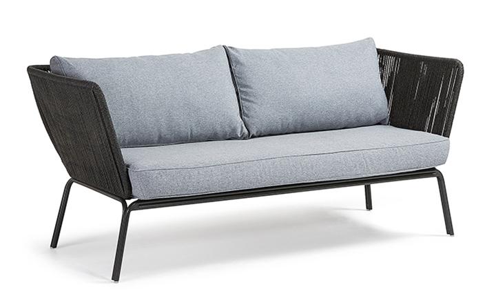 Bernon Sofa 3 Seats Metal Grey, Rope Dark Grey for R9499