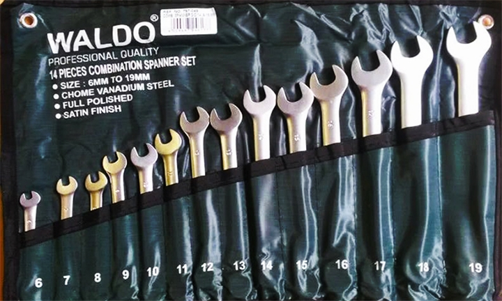 Waldo Bi-Hex 14 or 19-Piece Spanner Set (Chrome Vanadium) from R299