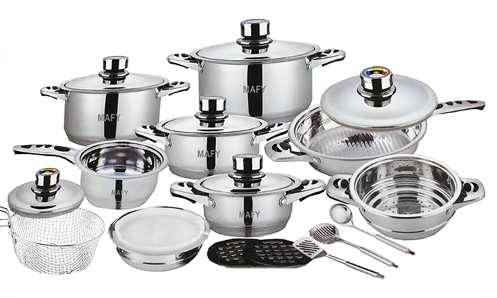 Mafy 21 Piece Stainless Steel Cookware Set for R1399