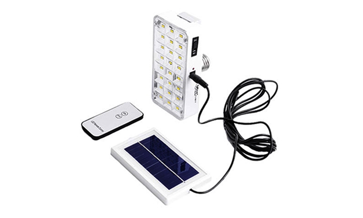 Solar & Rechargeable LED Emergency Lamp with Remote Control for R149