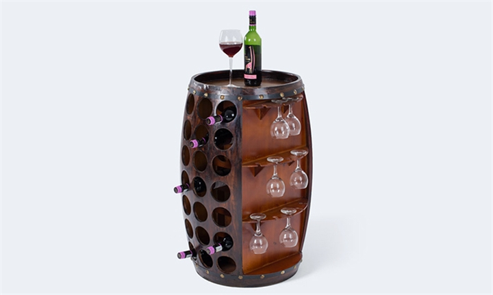 42 Bottle Barrel Style Wine Rack for R2199 + Free Delivery