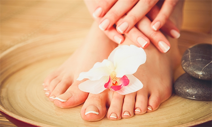 Choice of Aromatherapy Manicure or Pedicure Package or Express Foot Soak with Exfoliation and Foot & Hand Massage at All Wellness Spa