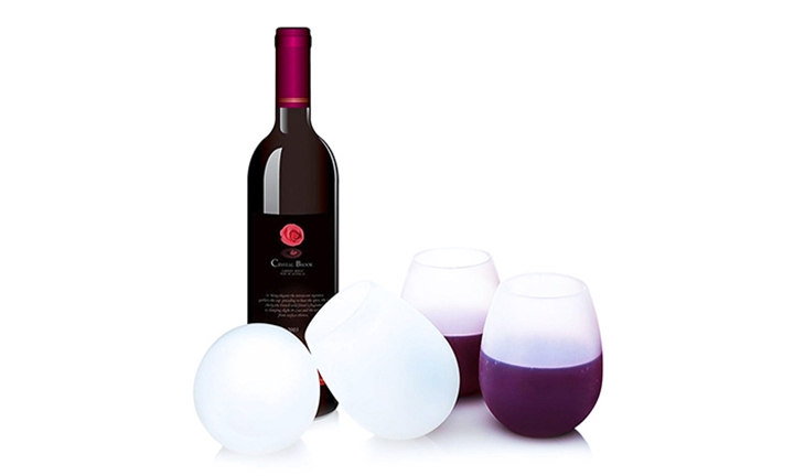 Xtreme Living Stemless Silicone Wine Glasses from R179