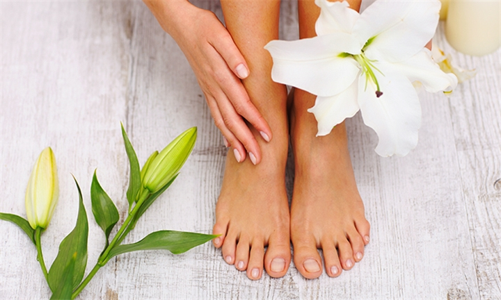 Full Pedicure or Gel Overlay for Toes at Double Infinity