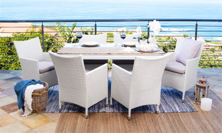 Durante 7 Piece Patio Dining Set (White) for R11999 + Free Delivery