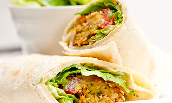 Choice of Mediterranean Wrap for up to Four at Babylon Theatre Cafe