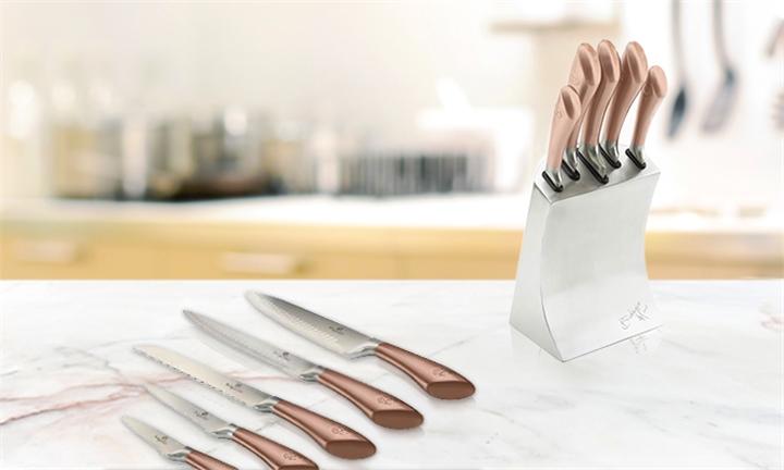Berlinger Haus Metallic Line 8-Piece Luxury Knife Block Set (Rose Gold) for R799