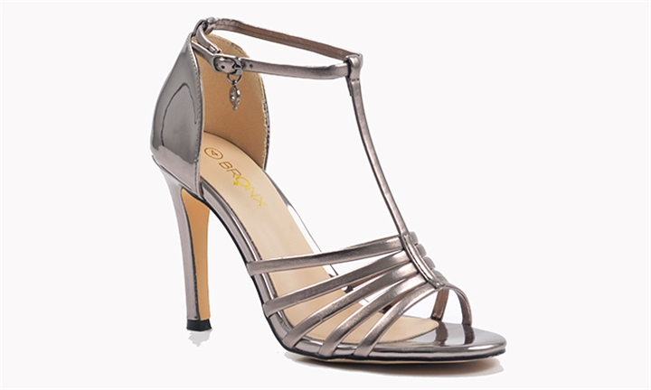 Bronx Ladies Magnolia Sandal in Pewter Glamour for R229