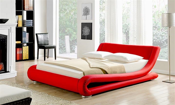Italian Design Leather Bed from R3499