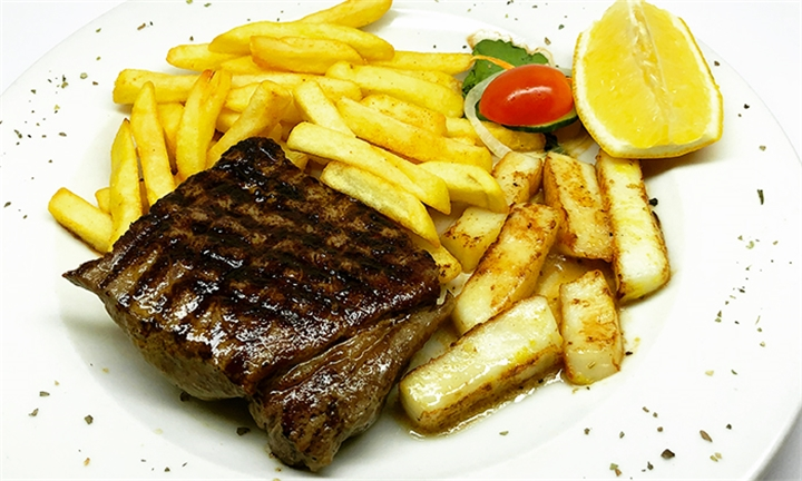 Surf and Turf (200g Rump Steak and 125g Calamari) Each for up to Four at Cafe Rossini