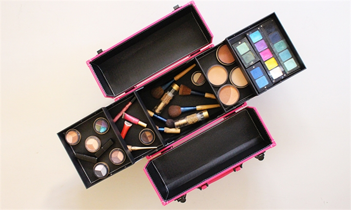Professional Makeup Case with Racks & Locks for R629