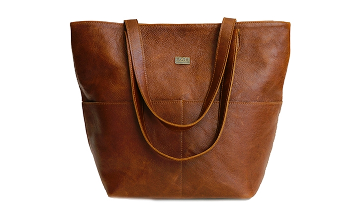 Emma Genuine Leather Tote with Front Pockets for R1599