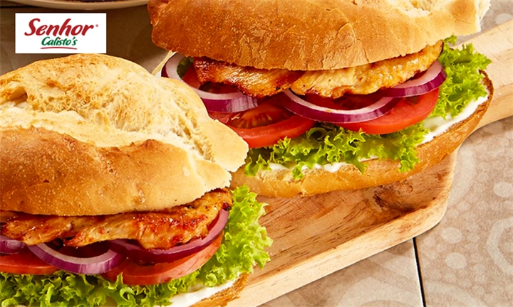 Choice of Burgers Including Side Each for Two at Senhor Calisto's – Montecasino