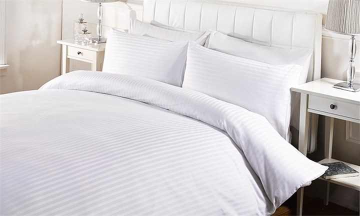 Egyptian Cotton Satin Stripes Duvet Cover from R399