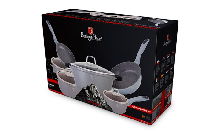 Berlinger Haus Granit Diamond 10 Piece Cookware Set (Grey) for R2699