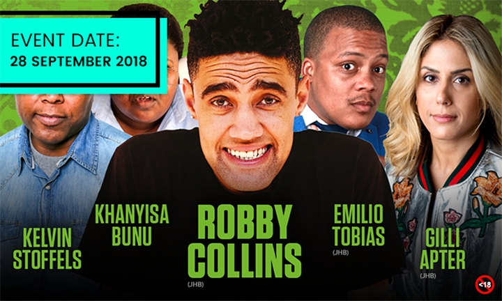 Friday Night Comedy at Gateway Hotel Featuring Robby Collins, Khanyisa Bunu, Gill Apter & Others