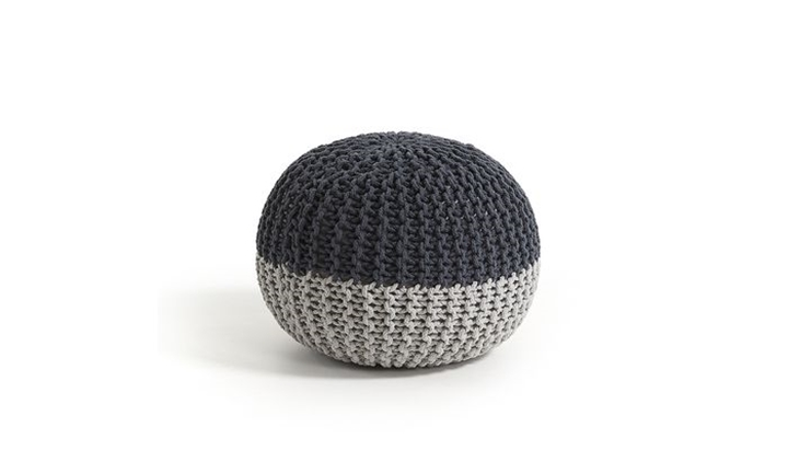 Arieh Pouf Cotton Round 60x35 Grey for R2199