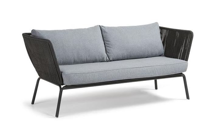 Bernon Sofa 3 Seats Metal Grey, Rope Dark Grey for R16999