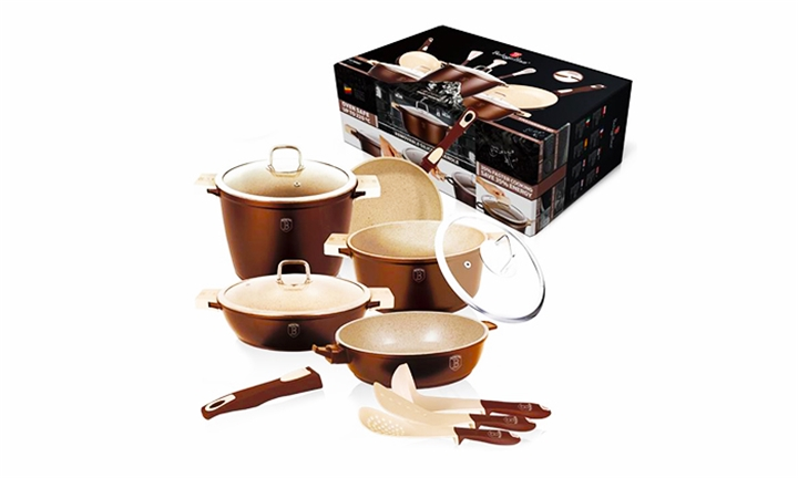 Berlinger Haus Granit Diamond 11 Piece Deluxe Cookware Set from R2999