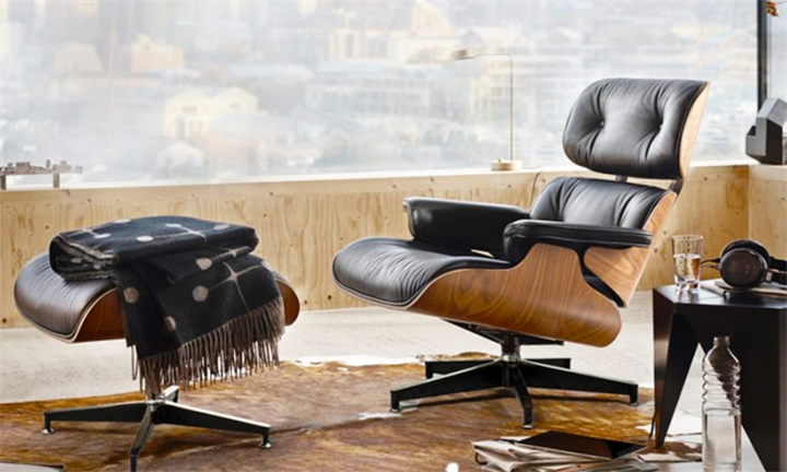 Eames Replica Leather Chair & Ottoman (Black) for R11999 + Free Delivery