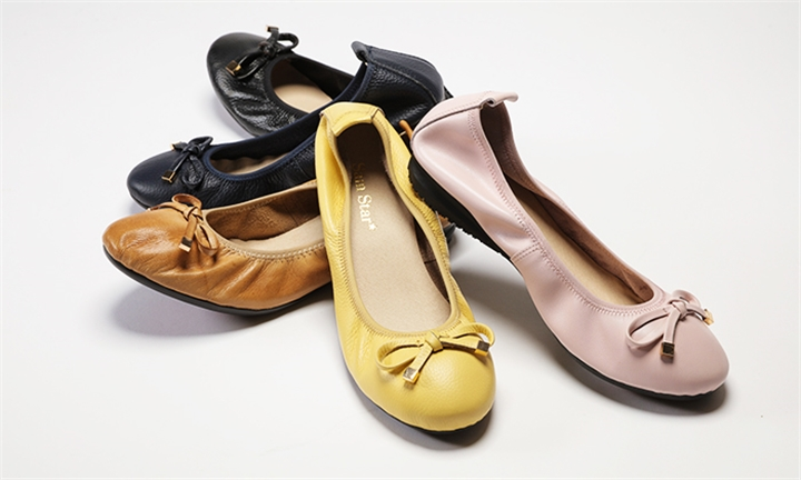 Sam Star Leather Pumps with Rubber Sole in Yellow for R729