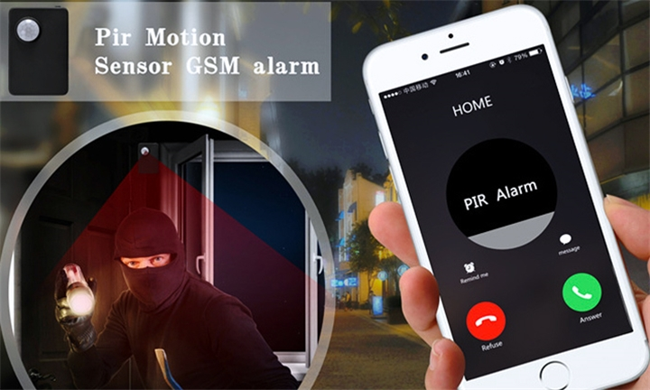 Mini Wireless PIR MP Anti-Theft Alarm System for R299