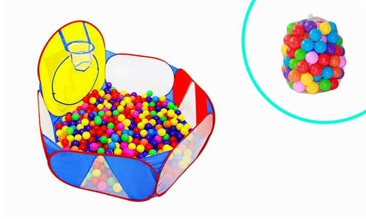 ComfyKids Ocean Ball Pit Combo with Balls & Basketball Hoop for R169