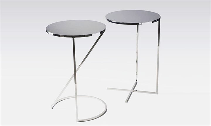 Silver Steel Coffee Table with Loop Stand for R1299
