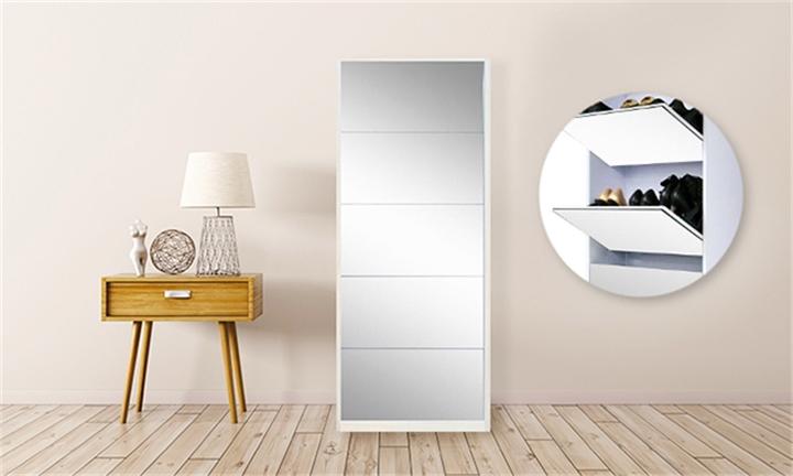 5 Door Mirror Shoe Cabinets from R1699