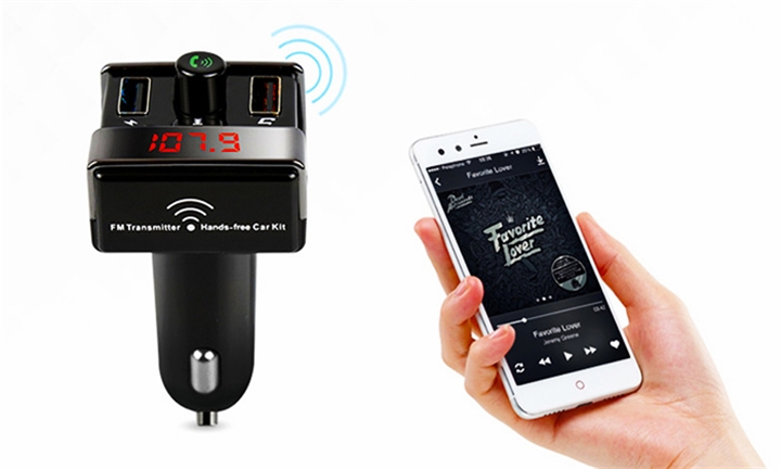 Hands Free Bluetooth Car Kit with FM Transmitter & Charger for R299
