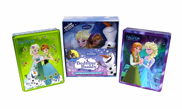 Disney Olaf Bedtime Buddy & Book with 2 Happy Tins for R299