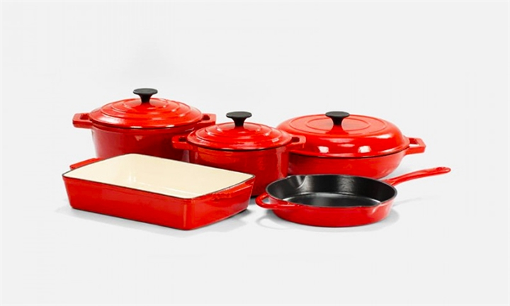 Nouvelle 8 Piece Cast Iron Cookware Set for R2499 + Free Delivery
