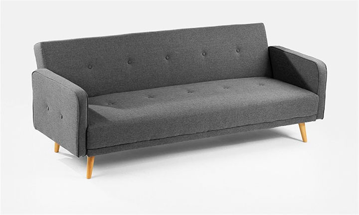 Lorenzo 3 Seater Sleeper Couch (Grey) for R4999 + Free Delivery