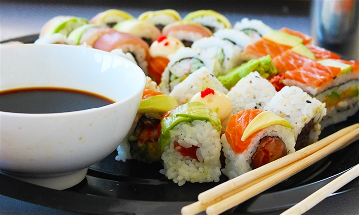 30 or 60-Piece Combination Sushi Platter for Two or Four at Risushi