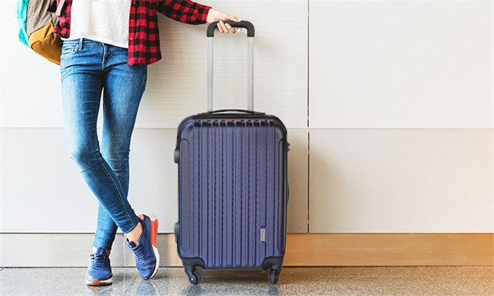 Medoodi Dallas ABS Luggage Bag in Navy for R649