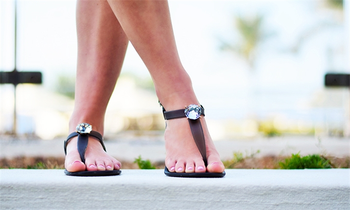 Sandals & Me Saint Claire Flats in Black for R349