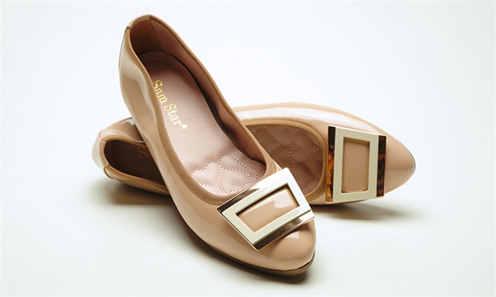 Sam Star Pointy Buckle Pump with Extra Cushions in Pink for R999