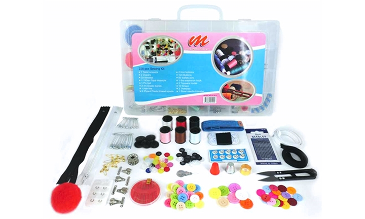 Mini Home Sewing Machine & MIB 228-Piece Sewing Kit for R269