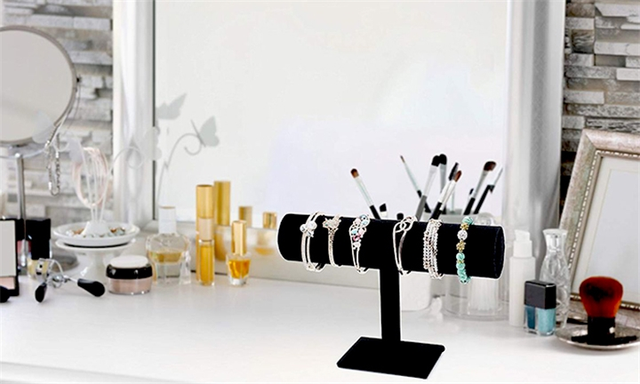 Velvet Hovering T-Bar Bracelet, Necklace & Jewellery Display Stand for R229