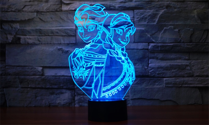 3D LED Night Light Designs in Multiple Colours for R249