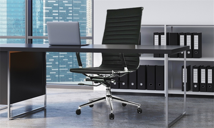 Vienna Studio Office Chair (Black & Chrome) for R1849