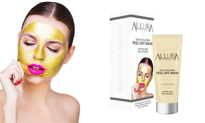 Allura Purifying Peel-Off Mask (Black or Gold) for R179