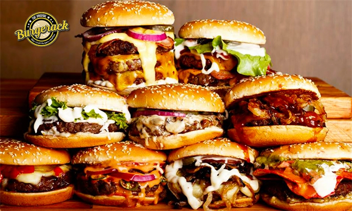 Choice of Burger and Chips for Two at Burgerack – Musgrave